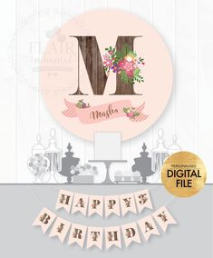 Pink Rustic Name Backdrop Poster Birthday Flags, Birthday Backdrop, 2nd Birthday, Birthday Ideas, Paper Bunting, Bunting Banner, Masha And The Bear, Party Poster, Flag Banners