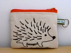 Hedgehog Change Purse van HappyFantastic op Etsy, $12.00