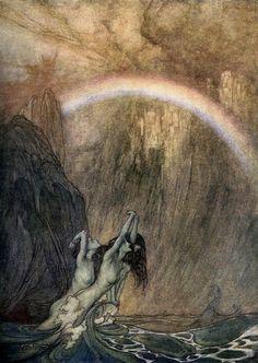 Arthur Rackham - L'Or du rhin                                                                                                                                                                                 More