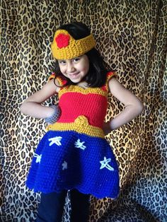 Crochet Wonder Woman Costume for Toddler!
