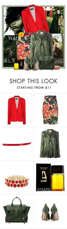 Moss Green + Red by wswllcstwrt on Polyvore featuring Erika Cavallini Semi-Couture, MANGO, Artelier by Nicole Miller, Gucci, 3.1 Phillip Lim, Sole Society, ASOS, Azzaro and KOCCA