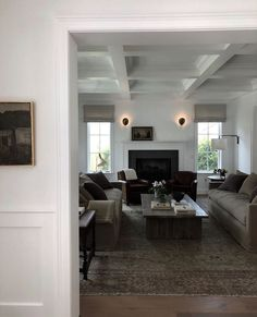 Look up, Ceilings Matter: A Study of 10 Incredible Ceilings and Why Every Ceiling Needs an Intentional Plan - Chris Loves Julia Home Living Room, Apartment Living, Living Spaces, Interior Design Studio, Interior Design Inspiration, Interior Styling, Amber Interiors, White Ceiling, Scandinavian Living