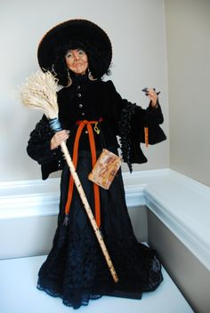 witch by AllDolledUpbyNadine on Etsy, $200.00.  A beauty