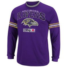 NFL Mens Baltimore Ravens Victory Pride IV Drk Purple/Ath Gray Heather Long Sleeve Crew Neck Colorblked Tee by Majestic. $33.99. Pakistan. Weathered Screenprint Team Name. Weathered Screenprint Self Fabric Applique Logo. Cotton 60%/Polyesther 40%. Colorblocked 2X Rib Collar. When The Nfl Season Begins, Make Sure Your Wardrobe Is Screaming Team Pride With This  Victory Pride Long Sleeve Crewneck Shirt. Featuring A Weathered Screen Print  Team Name And Logo Prominently Displayed ...