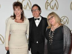 BEVERLY HILLS, CA - JANUARY 19: (L-R) Janet Grillo, director David O. Russell and actress Colleen Camp attend the 25th annual Producers Guild of America Awards at The Beverly Hilton Hotel on January 19, 2014 in Beverly Hills, California.