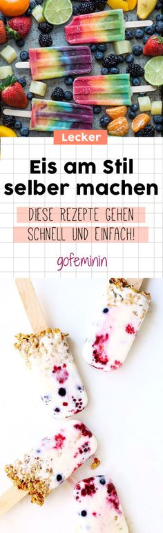 Hot on ice? DIY popsicles are THE ice cold summer hit on the stick! Making ice cream yourself: Simple and delicious recipes cold DIY diybag diybox diyfood diyknutselen diyroupascustomizao diytable hit Hot Ice popsicles smalltatto stick summer tattofo Healthy Smoothies, Smoothie Recipes, Fruit Recipes, Healthy Recipes, Delicious Recipes, Frozen Yoghurt, Make Ice Cream, Healthy Shakes, Food Trends