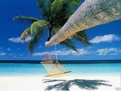 mare limpido spiaggia bianca e.. un 'amaca