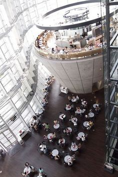 Cafe in the National Art Center, Tokyo, Japan