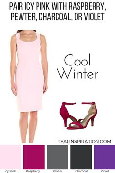 How to Wear Pink If You're a Winter Pink is the color of femininity, gentleness, and empathy. How to Wear Pink If You're a Winter. Deep Winter Palette, Cool Winter Color Palette, Deep Winter Colors, Deep Autumn, Winter Outfits, Or Violet, Winter Typ, Seasonal Color Analysis, Pink Outfits