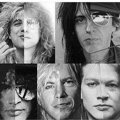 "305 curtidas, 1 comentários - Guns N' Roses  (@gnrs_jungle) no Instagram: ""Then and now #GunsNRoses #AxlRose #Slash #DuffMcKagan #IzzyStradlin #StevenAdler owner"""