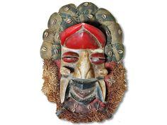 Affenmaske der Dan Liberia/Afrika 45cm kaufen