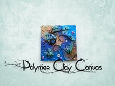 How To Make Pretty Polymer Clay Canvas Tutorial