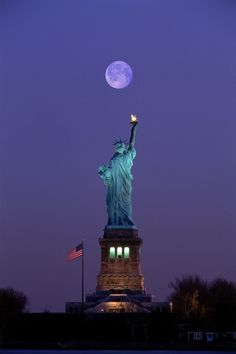 Moonlight & The Statue of Liberty...........