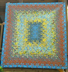 Provence Blooming Nine Patch Quilt by Lonesomedesigns on Etsy, $300.00