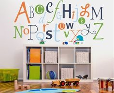 Alphabet Fun Wall Decal  $89  Can customize the colors  Rosenberry Rooms