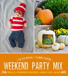 Check out our weekend party mix + some totally do-able Halloween DIYs