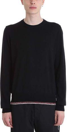 Maison Margiela Black Wool Blend Pullover