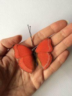 Handmade Bio Cotton and Silk Organza Hair Bobby Pin Butterfly by TheButterfliesShop