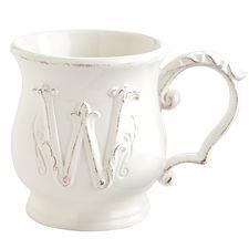 Elizabeth Monogram Mug - W
