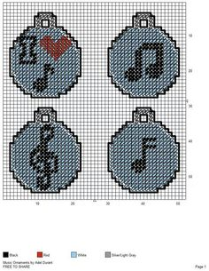 Mine craft creeper Ornaments Plastic Canvas Coasters, Plastic Canvas Ornaments, Plastic Canvas Crafts, Free Plastic Canvas Patterns, Plastic Craft, Needlepoint Patterns, Cross Stitch Patterns, Music Ornaments, Christmas Ornaments