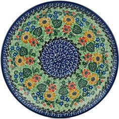 Polish Pottery Lunch Plate 10inch Son Of Spring UNIKAT ** Find similar products by clicking the VISIT button