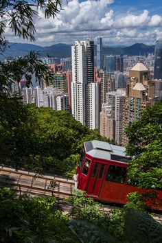 Hong Kong Peak Tram I rode in that its was insane! Notice how it's horizontally moving....IT WAS ALSO A BIT SCARY!
