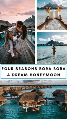 Four Seasons Bora Bora Resort: A Honeymoon Dream Bora Bora Honeymoon, Bora Bora Resorts, Romantic Getaways, Romantic Travel, Romantic Escapes, Romantic Vacations, Bora Bora Bungalow, Honeymoon Pictures, Honeymoon Ideas