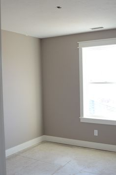 Baseboard and window trim (there it is!) here's our window trim. Love this color!