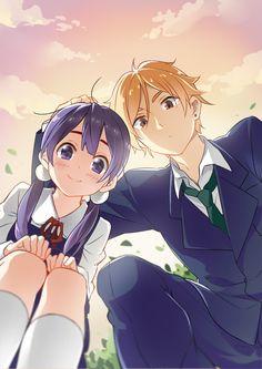 Tamako Market / Tamako Love Story | Kyoto Animation / Kitashirakawa Tamako and Ooji Mochizou / 「Tamako Love Story」/「favilia」のイラスト [pixiv]