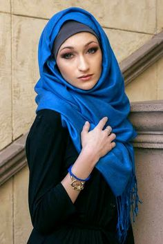 Royal Blue Pashmina #hijabiStyle #hijab  Online now only $13 shop today. www.JannahGifts.com