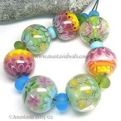 ANASTASIA-handmade-lampwork-beads-7-SPRING-FLOWERS-SRA http://www.ebay.com/itm/261767784835?ssPageName=STRK:MESELX:IT&_trksid=p3984.m1555.l2649