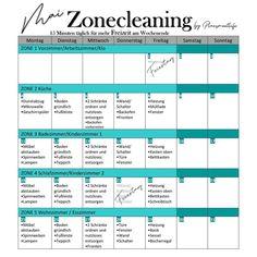 """Nina on Instagram: """"✨Vorschau Mai 2020 . #zonecleaning Übersicht für euch  im Mai. Easy peasy Starten wir mit Zone 2 und lassen die Zone 5 am Freitag…"""" Templates, Easy, Instagram, Running Away, Friday, Stencils, Vorlage, Models"""