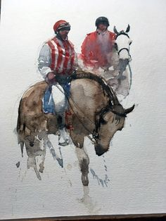 Click visit link for Watercolor Horse, Watercolor Artists, Watercolor Animals, Watercolor Portraits, Watercolor Landscape, Artist Painting, Watercolor And Ink, Painting & Drawing, Guache