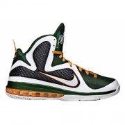 469764-102 Nike Lebron 9 miami hurricanes white white grg green ttl orng G06008 $86.99 http://www.blackonshoes.com/nike+lebron/nike+lebron+9