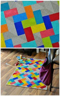 I painted an #IKEA rug... #diy