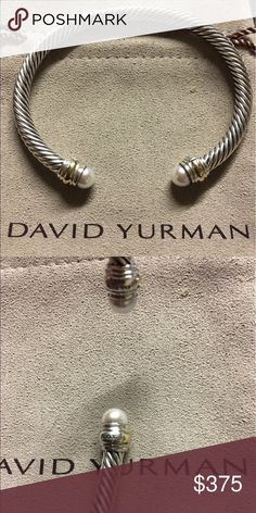 David Yurman, big head pearl 5MM, size medium, fresh water Pearl David yurman bracelet just had polished by a yurman professional and look like new;) comes with original DY dust pouch David Yurman Jewelry Bracelets
