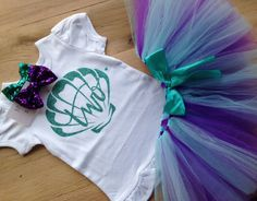 Under the Sea 2nd Birthday Outfit/Under the Sea Tutu Birthday Outfit/Purple and Aqua Mermaid Birthday/Second Birthday Outfit Girls by BespokedCo on Etsy https://www.etsy.com/listing/271729484/under-the-sea-2nd-birthday-outfitunder