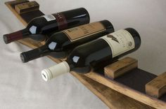 Handcrafted by Alpine Wine Design from recycled Napa wine barrels. Solid French Oak or American Oak barrel staves used for entire piece. By alpinewinedesign on Etsy