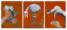 Francis Bacon, 'Three Studies for Figures at the Base of a Crucifixion' circa 1944