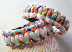 Paracord Survival 'Cobra' MultiColor and White by FamtasticCrafts, $10.99