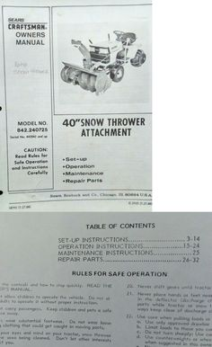 Craftsman Commercial Lathe Manual