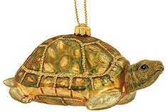 Land Turtle Glass Ornament