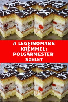 Most készítettem először, de nagy kedvenc lett! Hungarian Desserts, Smoothie Fruit, Food Festival, Tiramisu, Party Time, Sandwiches, Cheesecake, Muffin, Food And Drink