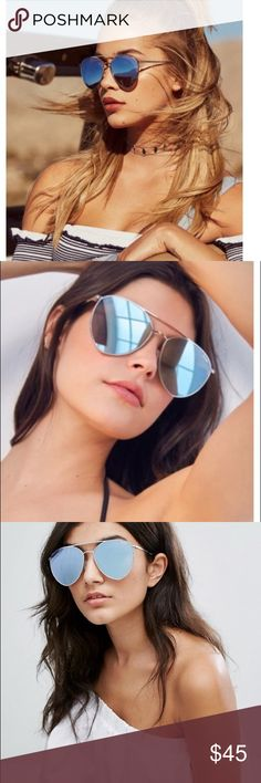 Quay x Jasmine Indio Oversized Mirrored Sunglasses Brand new with tag. No case. Quay Australia Accessories Sunglasses