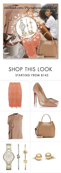 """""""The Gift Of Giving"""" by konata-phenomenalstyle ❤ liked on Polyvore featuring Alice + Olivia, Christian Louboutin, Jason Wu, Anya Hindmarch and FOSSIL"""