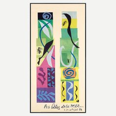 Beasts Of The Sea 19.5x38.5  by Henri Matisse