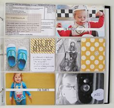"Project Life Scrapbook -- I bet I could do this with a 12"" x 12"" binder and protective sleeves. But would it be worth the hack?"