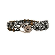 Beaded Bracelet with Hematites in silver and matt Gold & Silver elements Men's Jewelry, Luxury Jewelry, Modern Jewelry, Silver Jewelry, Cuff Earrings, Pendant Earrings, Bohemian Style Jewelry, Handmade Design, Handmade Silver