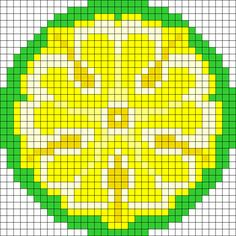 Game Of Thrones Tyrell Sigil perler bead pattern