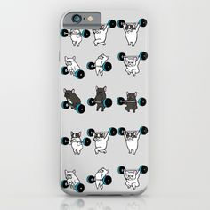 OLYMPIC LIFTING FRENCHIE iPhone & iPod Case$35.00 https://society6.com/product/olympic-lifting-frenchie_iphone-case?curator=alexxxxx